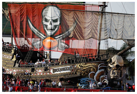 Tampa Bay Buccaneers Pirate Ship Professor Jam DJed On